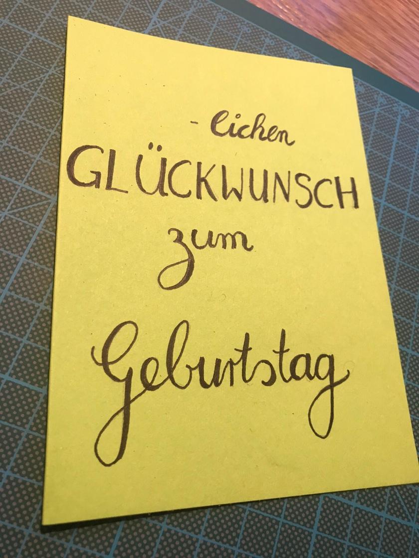 Diy Handlettering Geburtstagskarte Die Plaudertasche